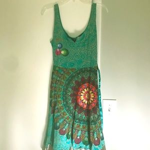 Desigual jersey summer dress Sz Small